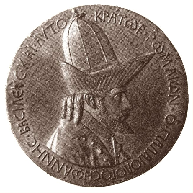 Johannes VIII. Palaeologos, Medaille von Pisanello,1438, Bronze, 10,2 cm, Bibliothèque Nationale, Paris