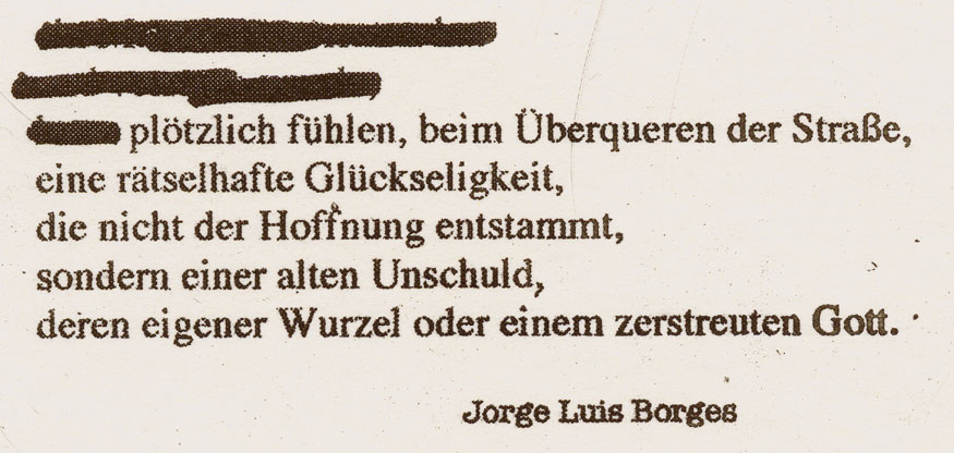 BNSW(BORGES), 2008, Fotogravur auf Bütten, ca. 41 x 94 mm