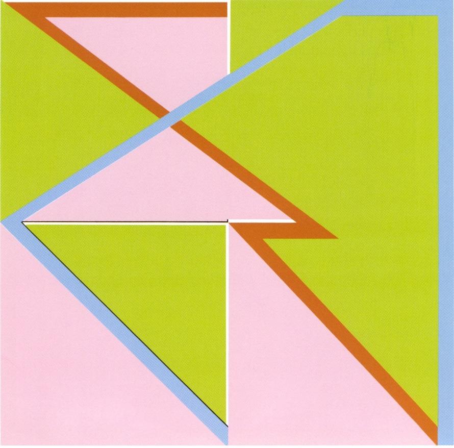 PAUL UWE DREYER; Verschränkungen 4, 1985, ÖL/LWD. 135 x 135 cm, © Copyright