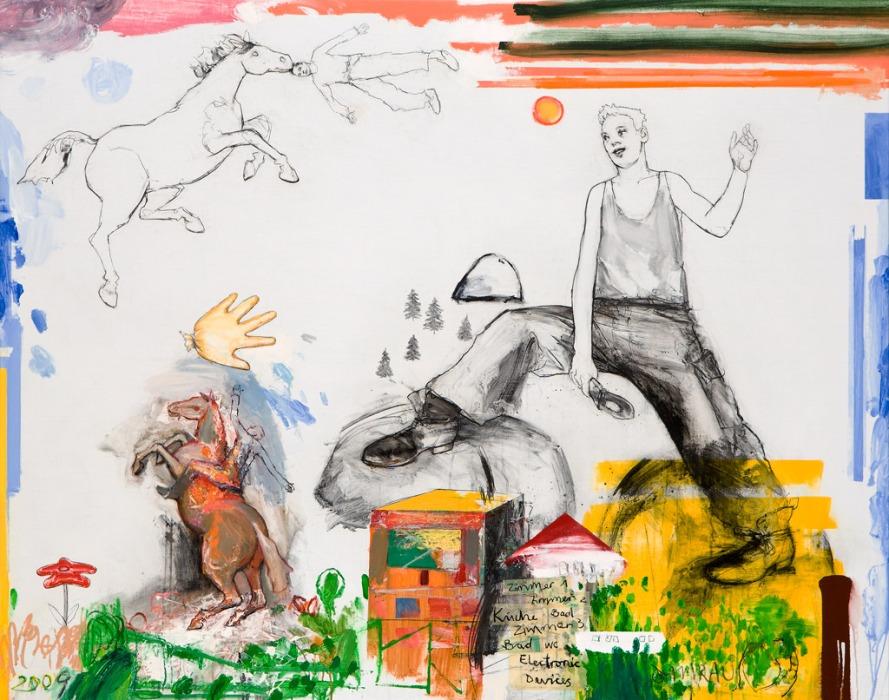 Tillmann Damrau, BAUSTELLE, 2009, Mixed Media/Lwd., 135 x 170 cm