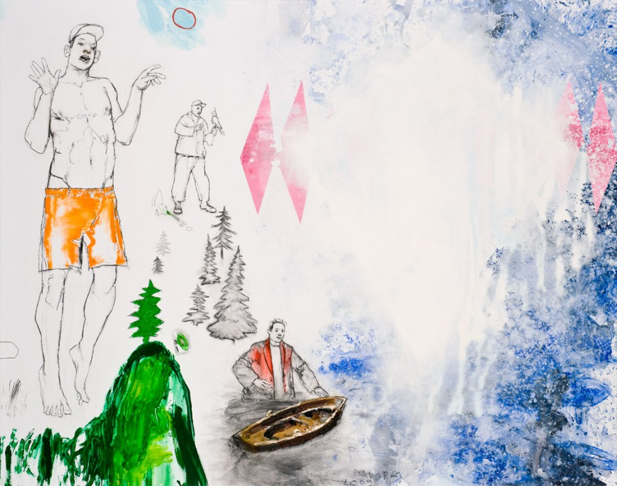 Tillmann DAmrau; DER SEE, 2009, 150 x 190 cm, Mixed Media auf Leinwand