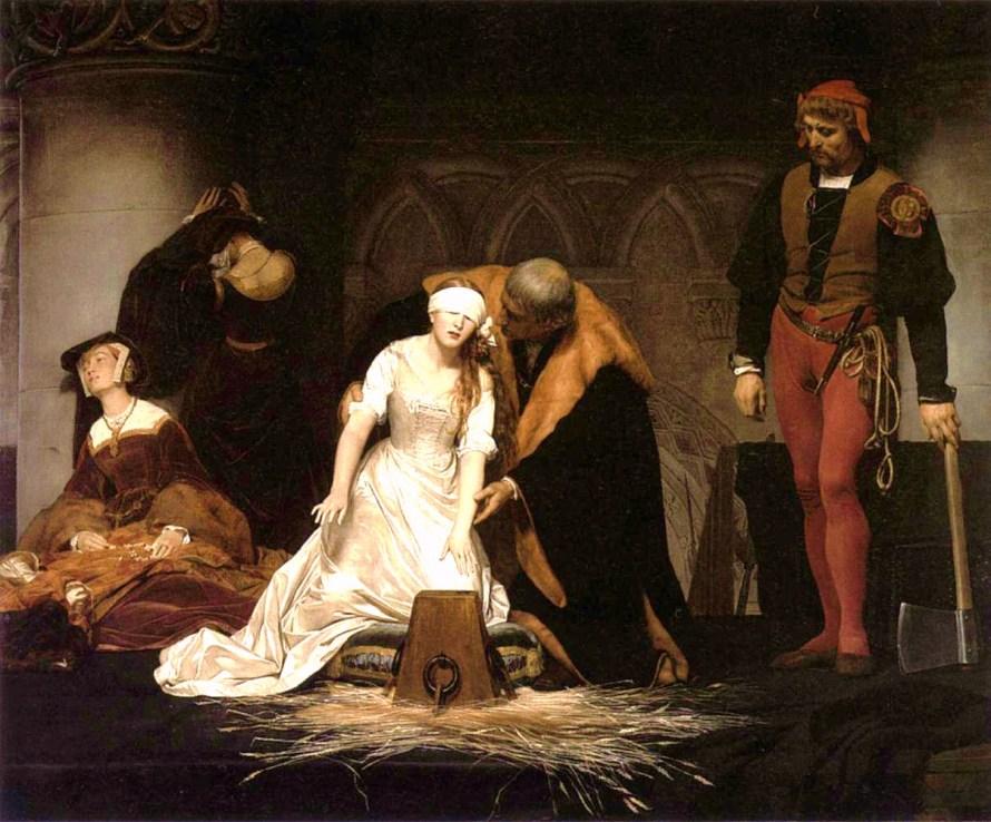 Paul Delaroche; Die Hinrichtung der Lady Jane Grey