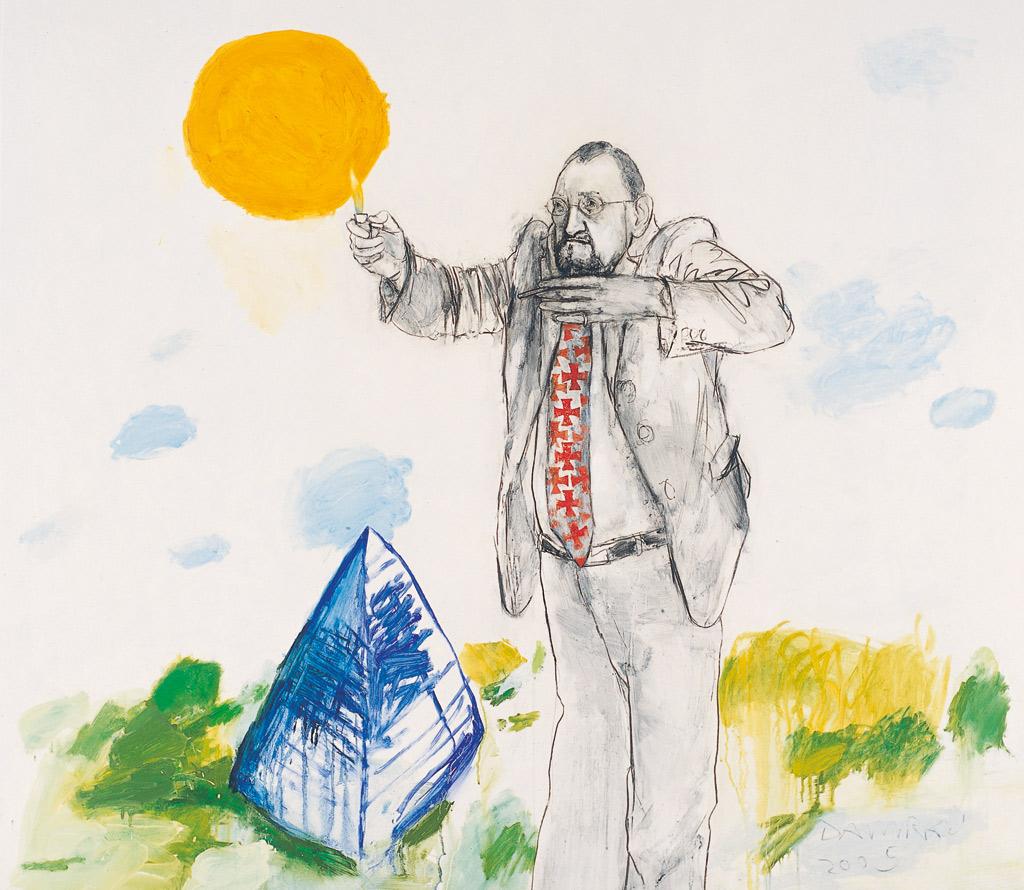 Tillmann Damrau, GMOK, 2005, Mixed Media auf Leinwand, 130 x 150 cm